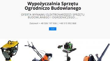 Wypożyczalnia sprzetu ogrodniczo budowlanego w Krynicy-Zdrój